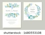 vintage simple wedding...   Shutterstock .eps vector #1680553108