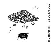 nigella sativa seed vector... | Shutterstock .eps vector #1680578032