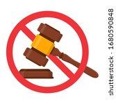 auction hammer prohibited.stop ... | Shutterstock .eps vector #1680590848