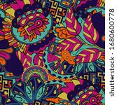 tracery seamless pattern.... | Shutterstock .eps vector #1680600778