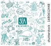Collection Of Sea Doodles   Se...