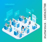 isometric laboratory chemistry... | Shutterstock .eps vector #1680620788