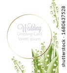 wedding greeting card with... | Shutterstock .eps vector #1680637528