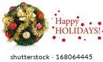 christmas fir tree ball with... | Shutterstock . vector #168064445
