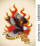 bald eagle attacking through... | Shutterstock .eps vector #168066068
