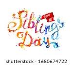 siblings day. april 10. splash... | Shutterstock .eps vector #1680674722