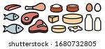vector icons of high protein... | Shutterstock .eps vector #1680732805