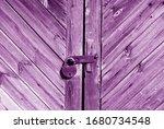 Wooden Door With Lock In Purple ...