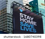 """Large Billboard With """"stay Home ..."""