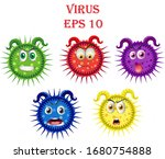 virus. corona virus.... | Shutterstock .eps vector #1680754888