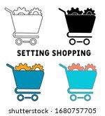 setting shopping icon....