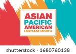 asian pacific american heritage ... | Shutterstock .eps vector #1680760138