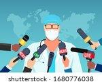 vector of a doctor in mask... | Shutterstock .eps vector #1680776038