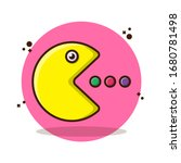 pac man with eat vector... | Shutterstock .eps vector #1680781498