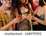 close up image of friend'  s...   Shutterstock . vector #168079592