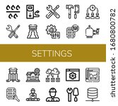 settings simple icons set.... | Shutterstock .eps vector #1680800782