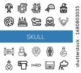 skull icon set. collection of...   Shutterstock .eps vector #1680803035