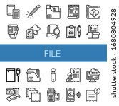 set of file icons. such as... | Shutterstock .eps vector #1680804928
