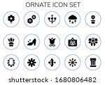 ornate icon set. 15 filled... | Shutterstock .eps vector #1680806482