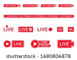 set of live streaming icons.... | Shutterstock .eps vector #1680806878