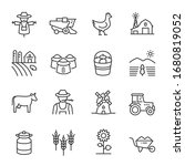 Farm  Agriculture Icon Set....