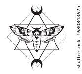 deaths head hawk moth and... | Shutterstock .eps vector #1680843625