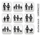 family  parents and children... | Shutterstock .eps vector #168086222