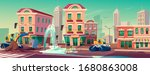 road under construction with... | Shutterstock .eps vector #1680863008