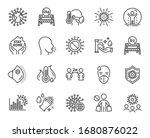 coronavirus line icons. medical ... | Shutterstock .eps vector #1680876022