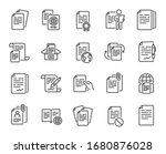 documents line icons. copy... | Shutterstock .eps vector #1680876028