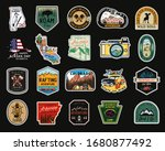 vintage camp patches logos ... | Shutterstock .eps vector #1680877492