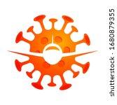 vector poster of flight...   Shutterstock .eps vector #1680879355