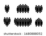 people icon set in trendy flat... | Shutterstock . vector #1680888052