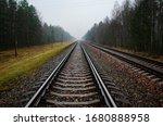 Railway Rails And Sleepers...