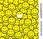 Smile Icons Pattern. One Person ...