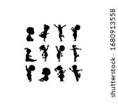 silhouettes set of children... | Shutterstock .eps vector #1680913558
