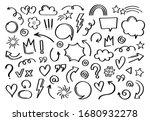 super set different hand drawn... | Shutterstock .eps vector #1680932278