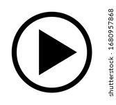 play video icon or  icon media... | Shutterstock .eps vector #1680957868
