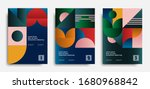abstract posters set in bauhaus ... | Shutterstock .eps vector #1680968842