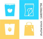 set of paper shopping bag icons....
