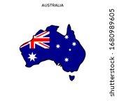 map and flag of australia... | Shutterstock .eps vector #1680989605