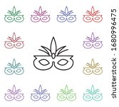 carnival mask multi color style ...