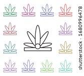 crown multi color style icon....
