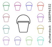 bucket line multi color style...