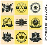 retro vintage badges and labels | Shutterstock .eps vector #168100052