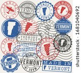 vermont  usa set of stamps.... | Shutterstock .eps vector #1681040692