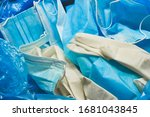 medical trash. coronavirus... | Shutterstock . vector #1681043845