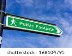 Footpath Sign Against Blue Sky
