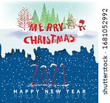 happy new year 2021 background... | Shutterstock .eps vector #1681052992