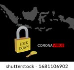 corona virus lock down symbol.... | Shutterstock .eps vector #1681106902